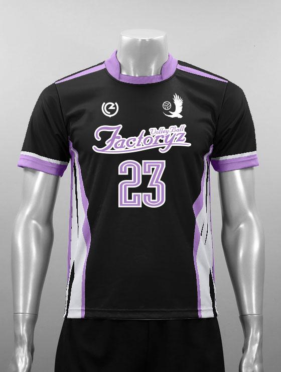 昇華デザイン01カーブライン黒ベース プリントA 紫
